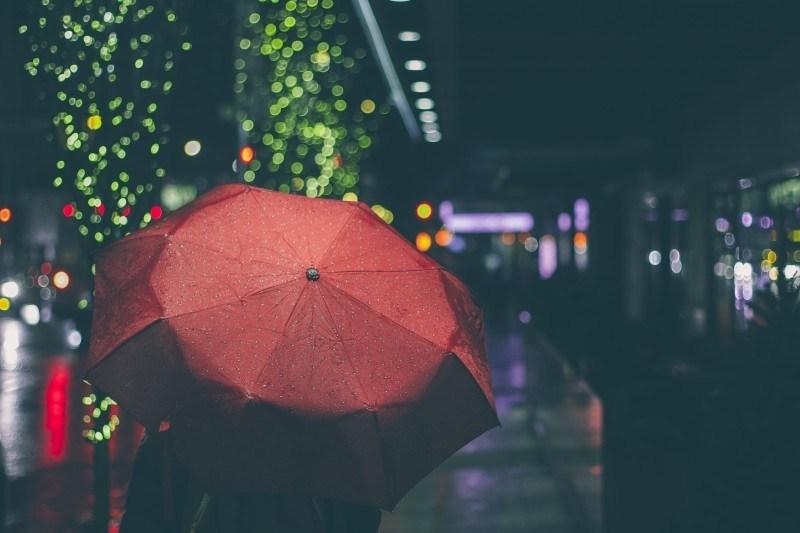 person rain umbrella