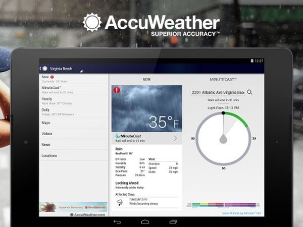AccuWeather (Android, iOS) (Free)