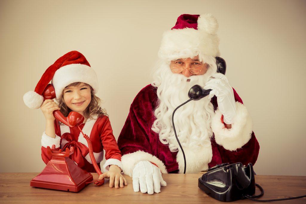Santa Claus and child