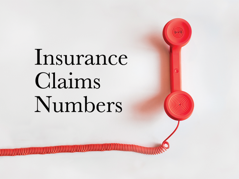 Insurance Company Claims Numbers